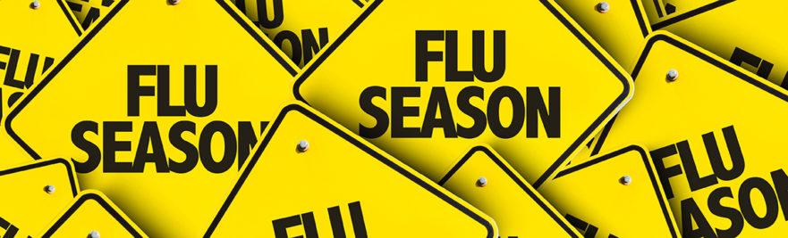Flu Season Caution Signs